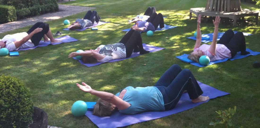 pilates garden stretch
